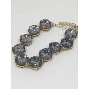 BaubleBar Smoky Blue Rhinestone Bracelet